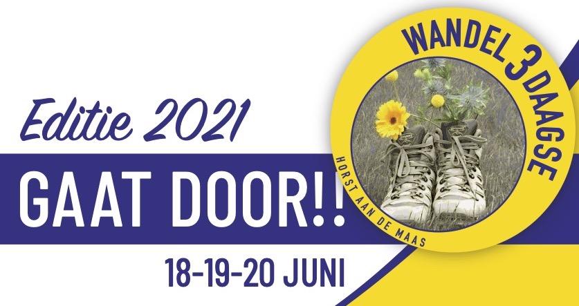Wandel Drie Daagse 2021 gaat door!